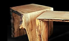 Live Edge Wood Slab Fold Side Table