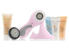 Clarisonic Pro Sonic Skin Cleansing for Face and Body - Pink***Three speeds for the face and a fourth speed for the body needing special attention,Reduces the appearance of oily areas, dry skin patches, blemishes and the appearance of visible pores,Gentle exfoliation increases skin firmness and skin brightness,Waterproof,Includes Sensitive brush and three trial size cleansers for the face. Body brush and refining skin polish for the body,.