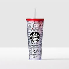 Fa La La Acrylic Cold Cup. Sing all holiday season long about how much you love sipping iced beverages from this fun cold cup.