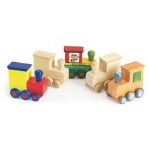 Decorate Your Own Wooden Trains (Set of 12).  Perfect for a bday party as an activity or take home gift.