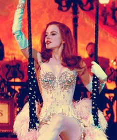 """Nicole Kidman in her 'Pink Diamonds' costume from """"Moulin Rouge!"""", Costume design by Catherine Martin and Angus Strathie. Nicole Kidman Moulin Rouge, Satine Moulin Rouge, Moulin Rouge Movie, Le Moulin, Moulin Rouge Outfits, Moulin Rouge Costumes, Vintage Glamour, Vintage Vogue, Le Burlesque"""