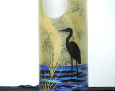 Handcrafted Night light with Great Blue by RecycledGiftsofGlass