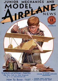 Model Airplane News - March 1930 - Magazine Cover Poster