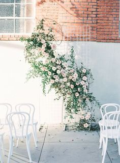 25 Head-Turning Wedding Altars, Arches And Backdrops #weddingarch #weddingaltars #weddingbackdrop #weddingdecor Wedding Ceremony Backdrop, Wedding Arbors, Wedding Reception, Floral Wedding, White Wedding Arch, Wedding Flowers, Wedding Dresses, Wedding Bouquet, Wedding Trends