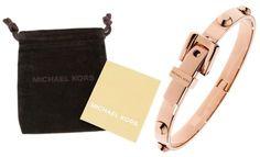 Michael Kors Rose Gold Tone Hinge Buckle Bangle ASTOR Bracelet NEW W/Pouch NWT #MichaelKors #BangleBracelet
