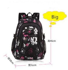 New School Bags for Girls Brand Women Backpack Cheap Shoulder Bag Wholesale  Kids Backpacks Fashion Floral 8482659b24548