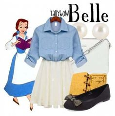 Here is Belle Outfit Gallery for you. Belle Outfit modern belle on the town outfit shoplook. Belle Outfit disney belle princess dress co. Cute Disney Outfits, Disney Princess Outfits, Disney Themed Outfits, Disneyland Outfits, Disney Bound Outfits Casual, Disney Clothes, Disney Dresses For Women, Skater Outfits, Emo Outfits
