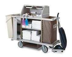 IT'S A BIG JOB AND SOMEONE HAS TO DO IT! Metro....helping to keep America clean from sea to shining sea with Lodgix Housekeeping Carts. Upscale appearance, sturdy polymer construction and a full line of accessories to address your every need.