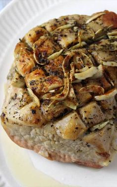 This Garlic Herb Pork Roast and Creamy White Wine Gravy turned a normal blah day into something special, we weren't even expecting it be that good. Pork Roast Recipes, Pork Tenderloin Recipes, Pork Roast With Gravy, Pot Roast, Baked Pork Chops, Pork Loin, Famous Recipe, Pressure Cooker Recipes, Slow Cooker