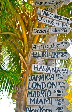 distances from your home to a destination... I so wanna do this in the corner of my backyard.