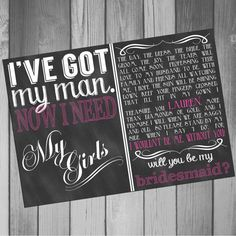 Hey, I found this really awesome Etsy listing at https://www.etsy.com/listing/167344875/will-you-be-my-bridesmaid-invitation