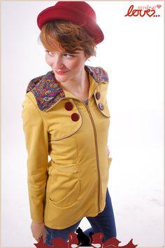 be6266ab098c74 Trenchcoat Laurélie Senf Paisley von mydearlove® - shop auf DaWanda.com