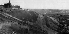 Edmonton's Incline Railway, and McDougall Hill, 1908.
