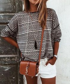 Casual Multicolor Wave Stripe Pattern Print Long Sleeve loose blouse top Sweater Knitwear