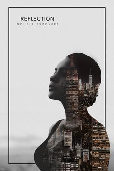 Double Exposure, by Łukasz Rosa Graphic Design Trends, Graphic Design Layouts, Graphic Design Posters, Graphic Design Inspiration, Web Design, Creative Poster Design, Creative Posters, Cover Design, Photoshop Photography