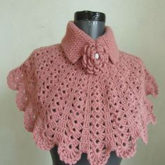 Christmas gift crochet capelet cowl neck warmer by ScarfsSale Poncho Au Crochet, Crochet Cape, Crochet Collar, Crochet Scarves, Crochet Clothes, Knit Crochet, Free Crochet, Crochet Neck Warmer, Crochet Gifts