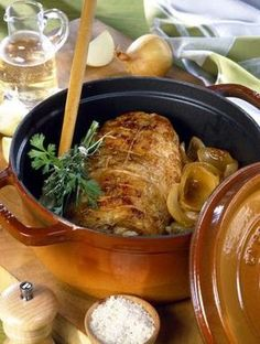 Recette - Rôti de porc en cocotte à la moutarde - Proposée par 750 grammes