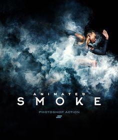 Gif Animated Smoke Photoshop Action - Photo Effects Actions