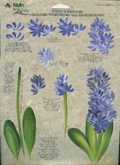 **Donna Dewberry RTG - Hyacinth and Water Lily - Tole Painting painting patterns tole Acrylic Painting Techniques, Painting Lessons, Painting Tutorials, Painting Tips, Fabric Painting, Painting & Drawing, Lily Painting, Donna Dewberry Painting, Tole Painting Patterns