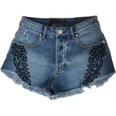 Short Jeans Bordado ANIMALE