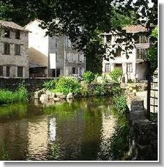 St Leonard de Noblat in the tranquil Limousin, France. This is a local town where we go shopping