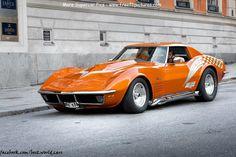I love the orange on this Chevrolet Corvette Stingray Chevrolet Corvette Stingray, Old Corvette, Corvette Summer, Classic Corvette, Chevrolet Tahoe, 1969 Corvette, Classic Chevrolet, Lamborghini, Ferrari