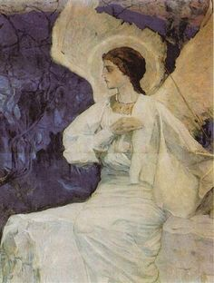 Angel on the Holy Sepulchre - Mikhail Nesterov