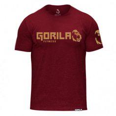 Gorila Fitness Men Shirt - Burgundy