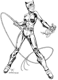Catwoman - Traditional Inks on Behance