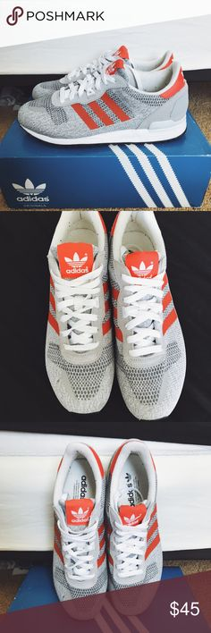 Adidas Originals ZX 700. Brand New ZX 700's. Red/Grey colorway. Worn once. 9/10. Adidas Shoes Sneakers