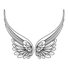 simple angel wings tattoo - Google Search | Feathers & Wings ~Draw &... ❤ liked on Polyvore featuring accessories and body art