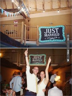 just married sign | VIA #WEDDINGPINS.NET