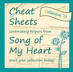 Cheat Sheets 13 Collection: Instant Digital Download cardmaking sketches by SongofMyHeartStamper
