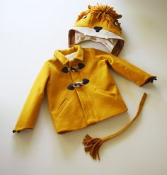 Boy's Lion Coat Pre-Order// Kids Lion Coat// Wool by littlegoodall