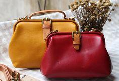 Handmade Leather doctor bag for women leather shoulder bag crossbody bag