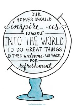 Our homes should inspire us. // Quote from the New York Times Best Selling Book - Love the Home You Have