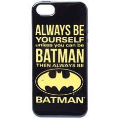 DC Comics Batman Always Be iPhone 5 Case | Hot Topic ($13) found on Polyvore featuring accessories and tech accessories