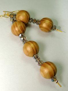 χειροποίητα ξύλινα σκουλαρίκια