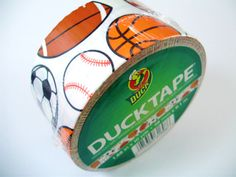 Sports Duct Tape One Roll of Printed Duck Brand by QuietMischief, Duck Tape Dress, Duct Tape Colors, Tapas, Duck Tape Wallet, Colored Tape, Duck Tape Crafts, Arts And Crafts, Diy Crafts, Best Day Ever
