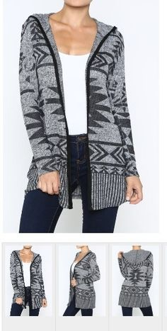 Everything Tribal Hooded Cardigan