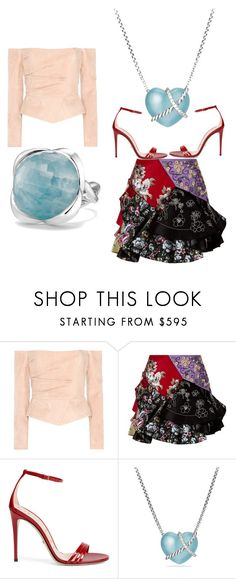 """""""Beauty #566"""" by vcardosousa ❤ liked on Polyvore featuring Balmain, Alexander McQueen, Gucci and David Yurman"""