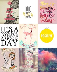 Positive thoughts - http://www.dorkface.co.uk/2014/09/positive.html