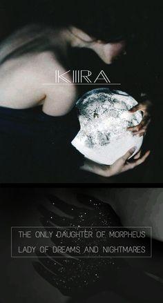 Morpheus's daughter, Kira Ammon #Morpheus #God #Greek