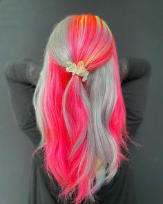 Color 2, Hair Colour, Neon Hair, Dye My Hair, Colorful Hair, Hot Pink, Long Hair Styles, Beauty, Beautiful
