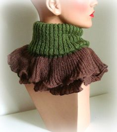 SALE was 35  Autumn Green Brown Women Scarf  Brown by InkaBoutique, $25.00