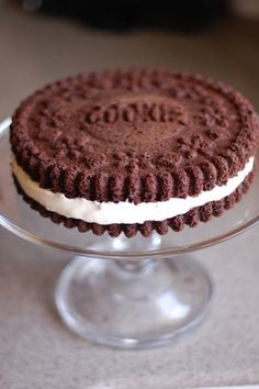 An extremely large Oreo. | 29 Giant Versions Of Your Favorite Foods You Can Make Yourself