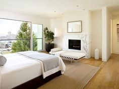 Bedroom Design Enticing Bedroom Modern Sitting Furniture Luxury Apartment In California Luxury Modern Bedroom Interior Design Of Russian Hill Residence By John Maniscalco Architecture San Francisco Bedroom Fireplace, Modern Fireplace, Fireplace Design, Fireplace Ideas, Fireplace Wall, Fireplace Facade, Beautiful Interior Design, Beautiful Interiors, Beautiful Homes