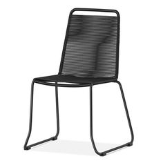 • Made of wrought iron<br>• Weather resistant<br><br>Outfit your patio dining table with the Cadima 4-pk. Rope Patio Armless Dining Chair from Threshold. This set of 4 patio dining chairs have a strap back and seat to cradle your form.