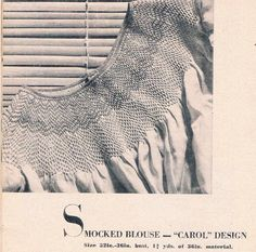 Vintage Illustrated Smocking Designs A Woman's by SparrowFinds