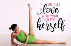 Decal for your yoga studio or home yoga space!